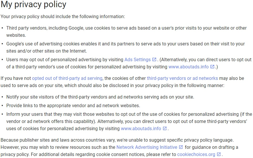 California privacy policy template free privacy policy.